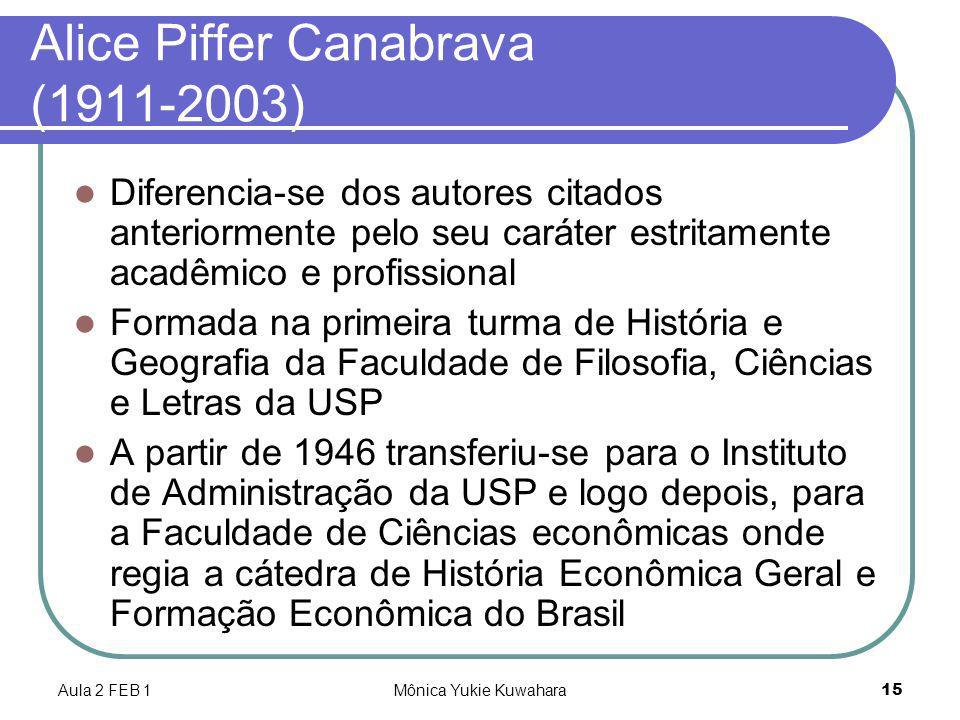 Alice Piffer Canabrava (1911-2003)