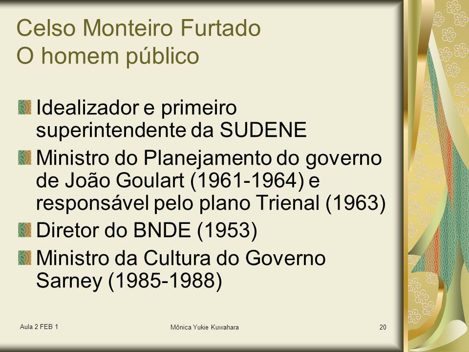 Celso Monteiro Furtado O homem público