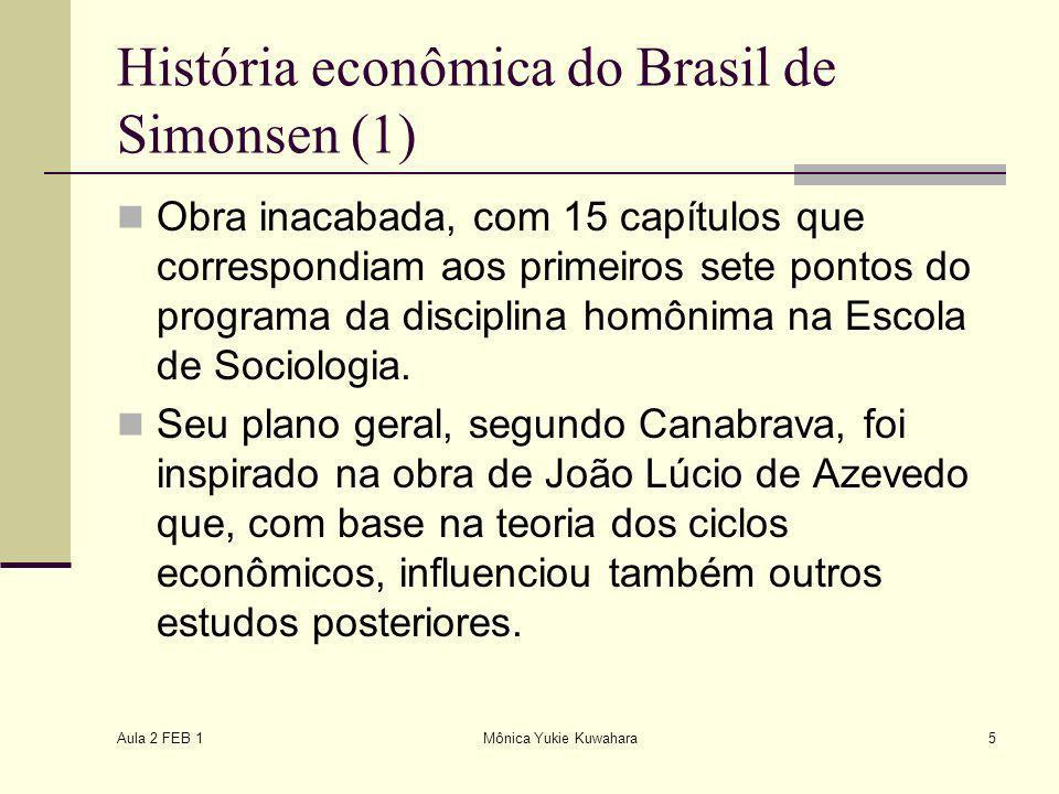 História econômica do Brasil de Simonsen (1)
