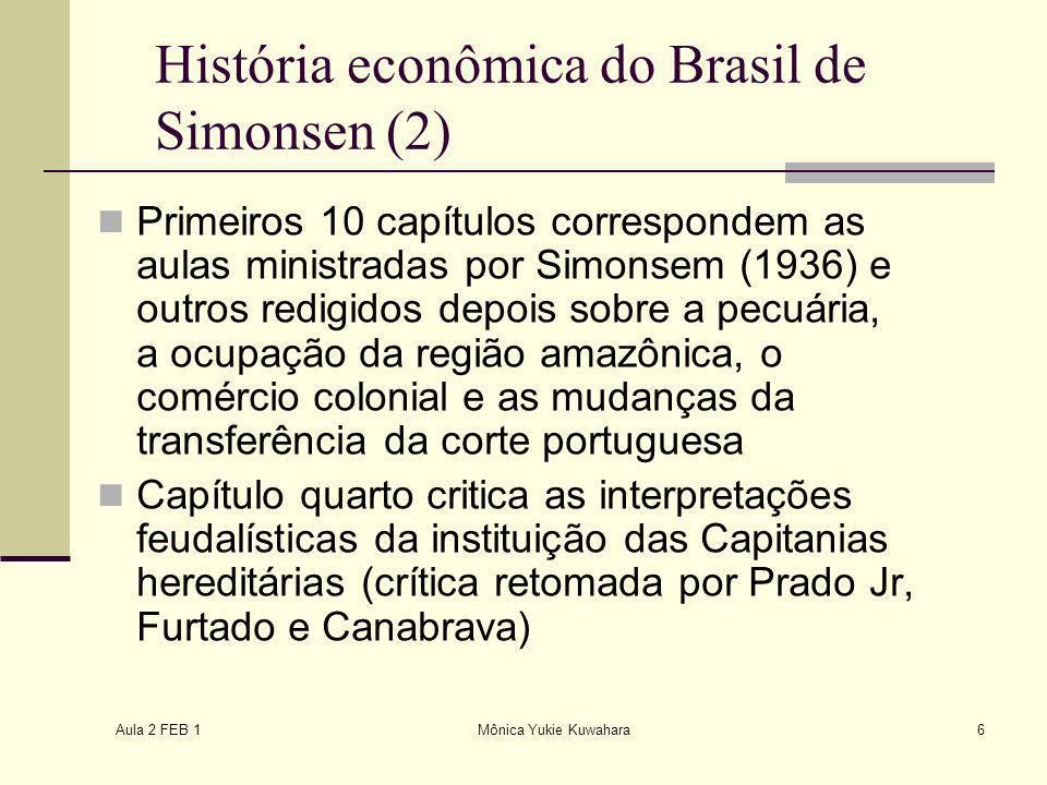 História econômica do Brasil de Simonsen (2)
