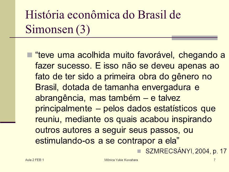 História econômica do Brasil de Simonsen (3)