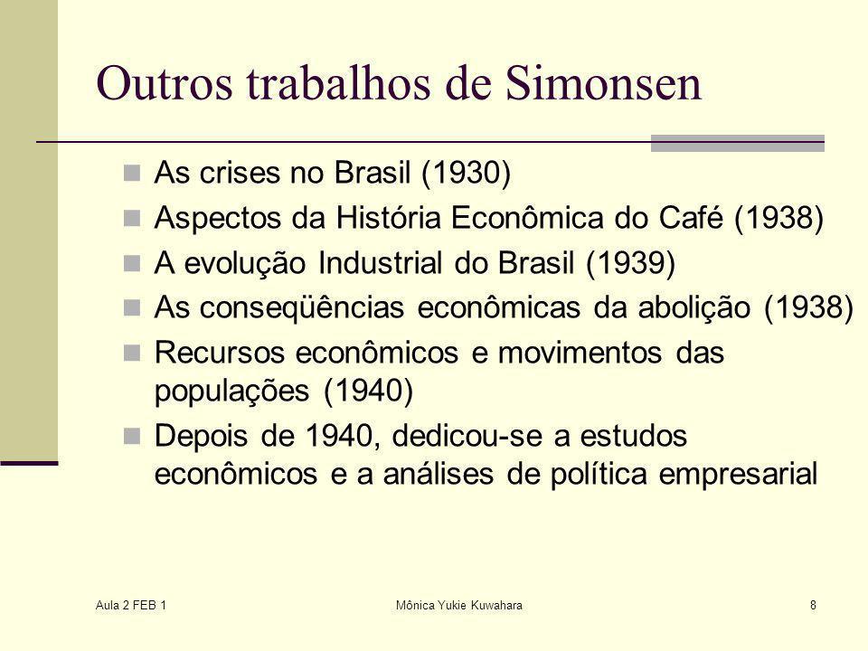 Outros trabalhos de Simonsen