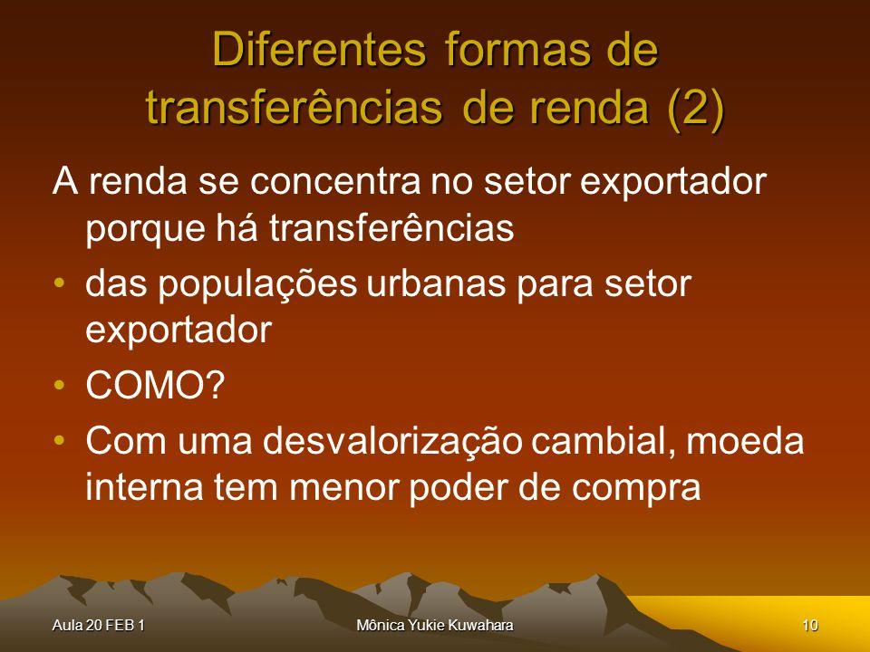 Diferentes formas de transferências de renda (2)