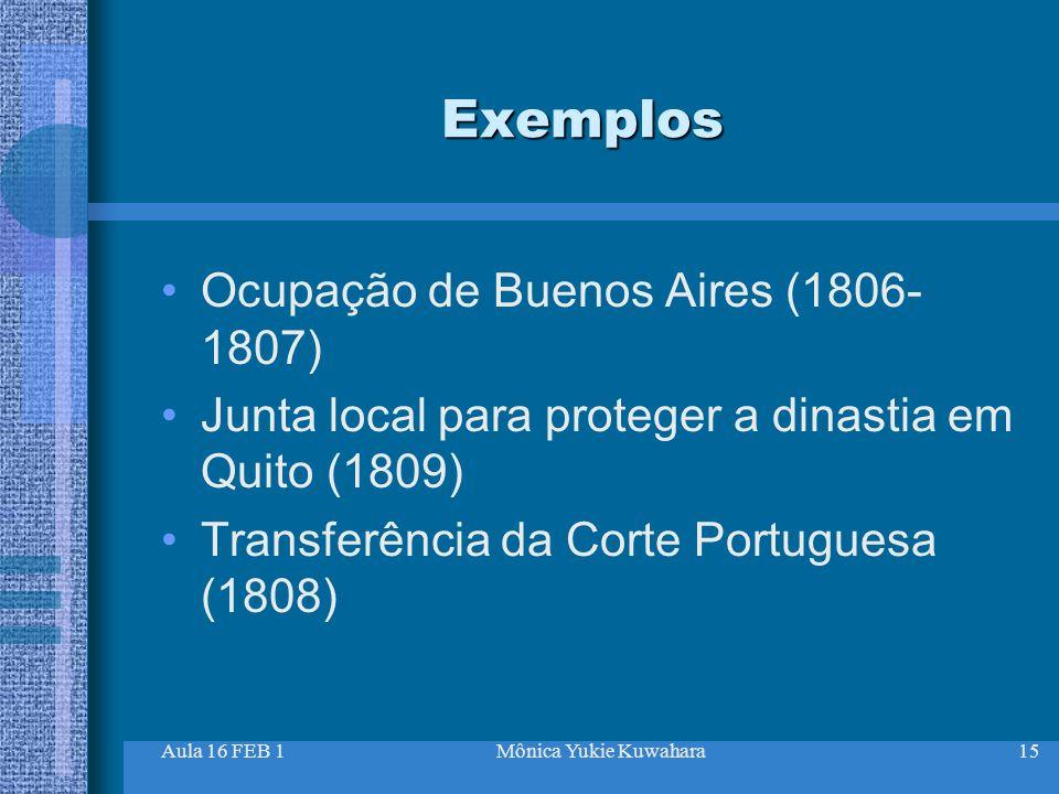 Exemplos Ocupação de Buenos Aires (1806-1807)