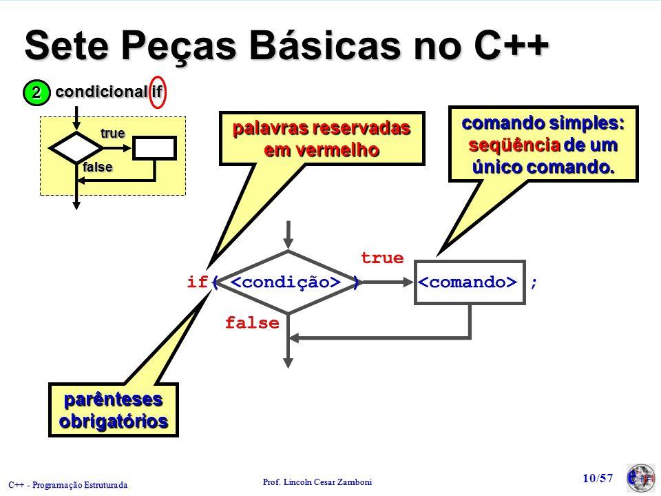 Sete Peças Básicas no C++