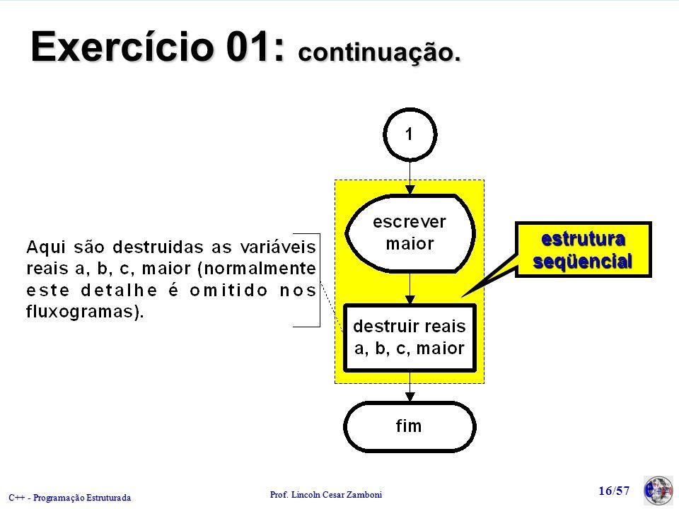 Exercício 01: continuação.