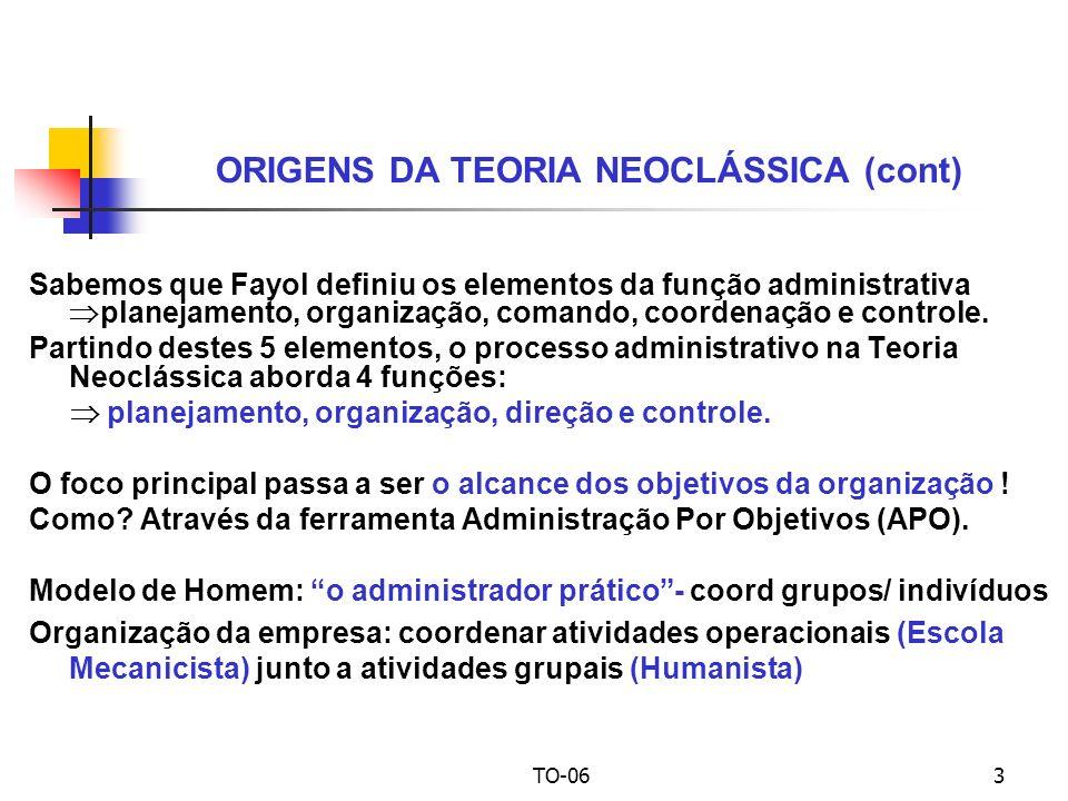 ORIGENS DA TEORIA NEOCLÁSSICA (cont)