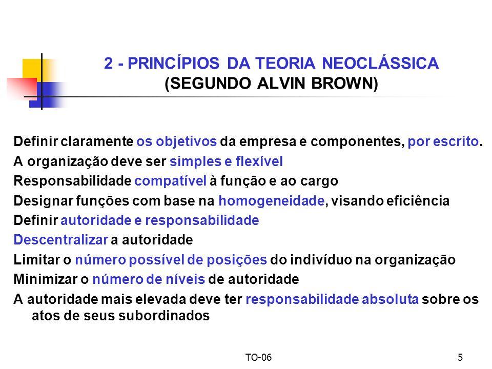 2 - PRINCÍPIOS DA TEORIA NEOCLÁSSICA (SEGUNDO ALVIN BROWN)