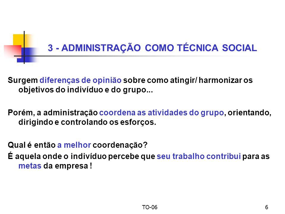 3 - ADMINISTRAÇÃO COMO TÉCNICA SOCIAL