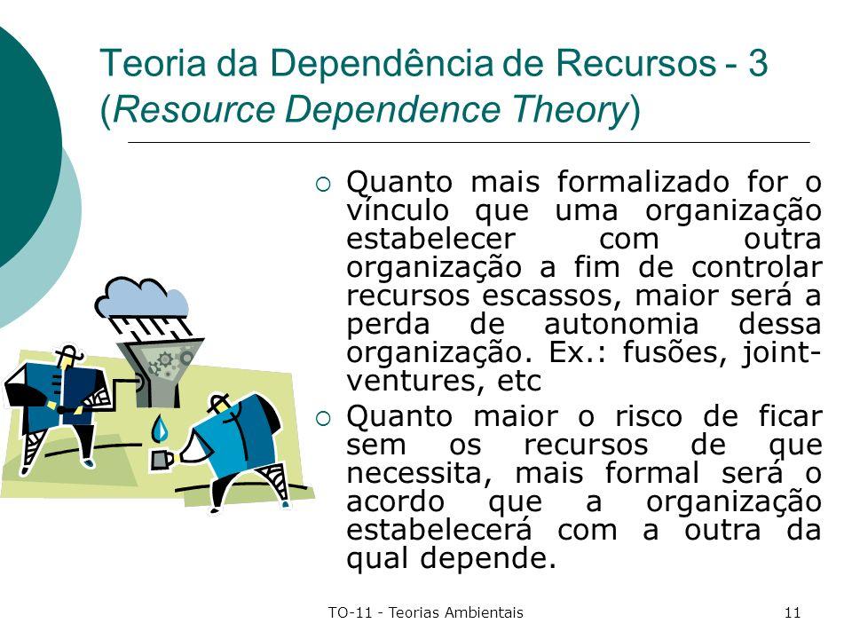 Teoria da Dependência de Recursos - 3 (Resource Dependence Theory)