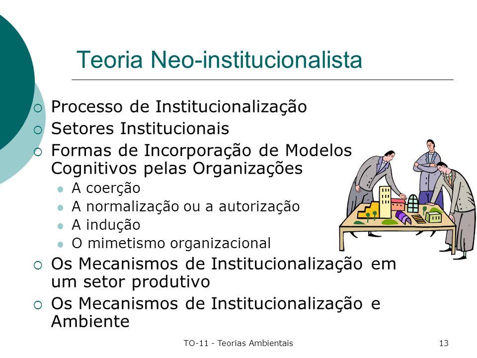 Teoria Neo-institucionalista
