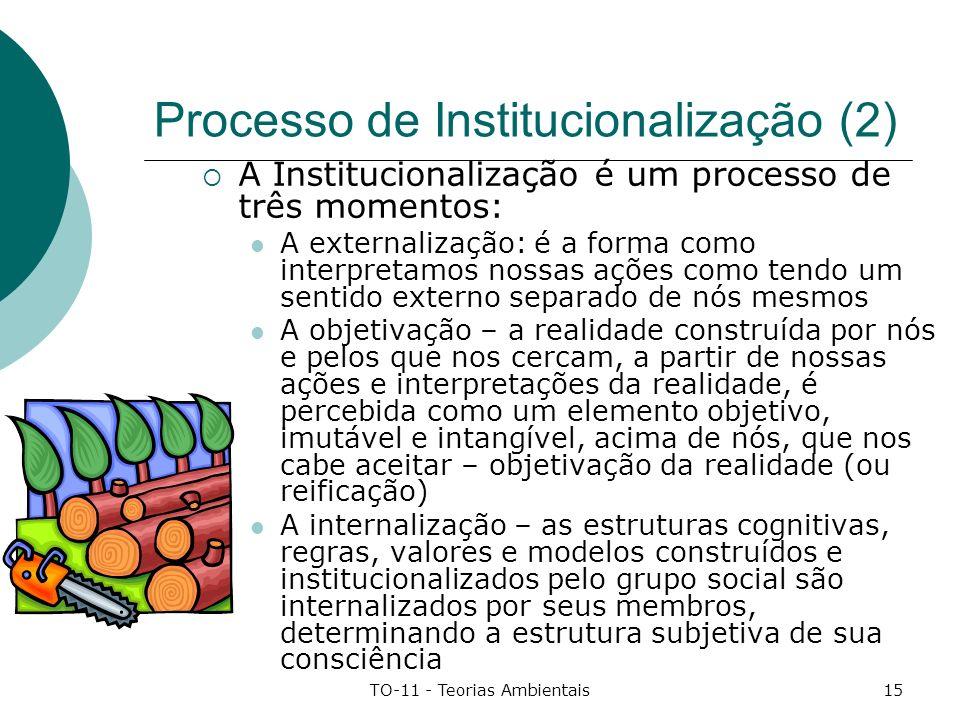 Processo de Institucionalização (2)