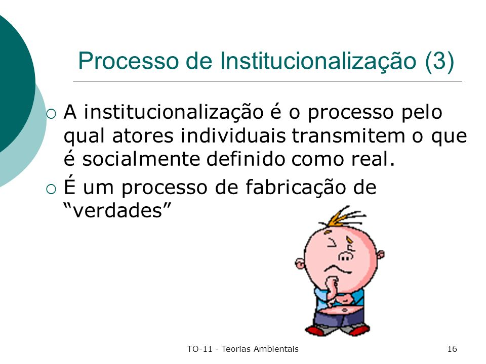 Processo de Institucionalização (3)