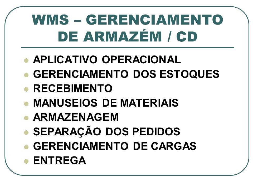WMS – GERENCIAMENTO DE ARMAZÉM / CD