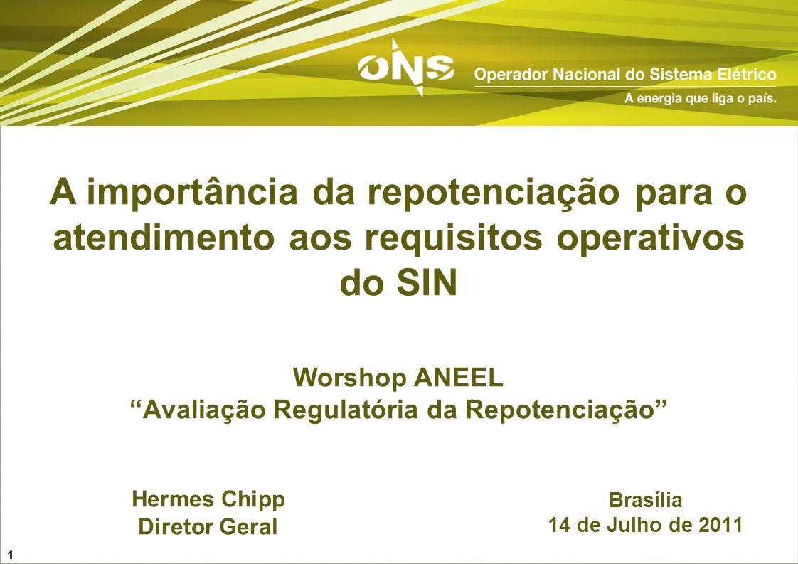 Worshop ANEEL Avaliação Regulatória da Repotenciação