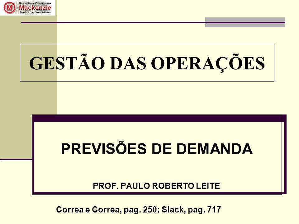 PREVISÕES DE DEMANDA PROF. PAULO ROBERTO LEITE