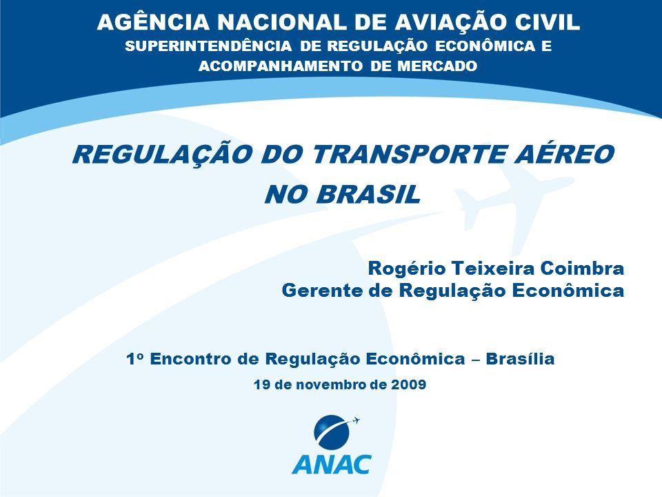 REGULAÇÃO DO TRANSPORTE AÉREO NO BRASIL