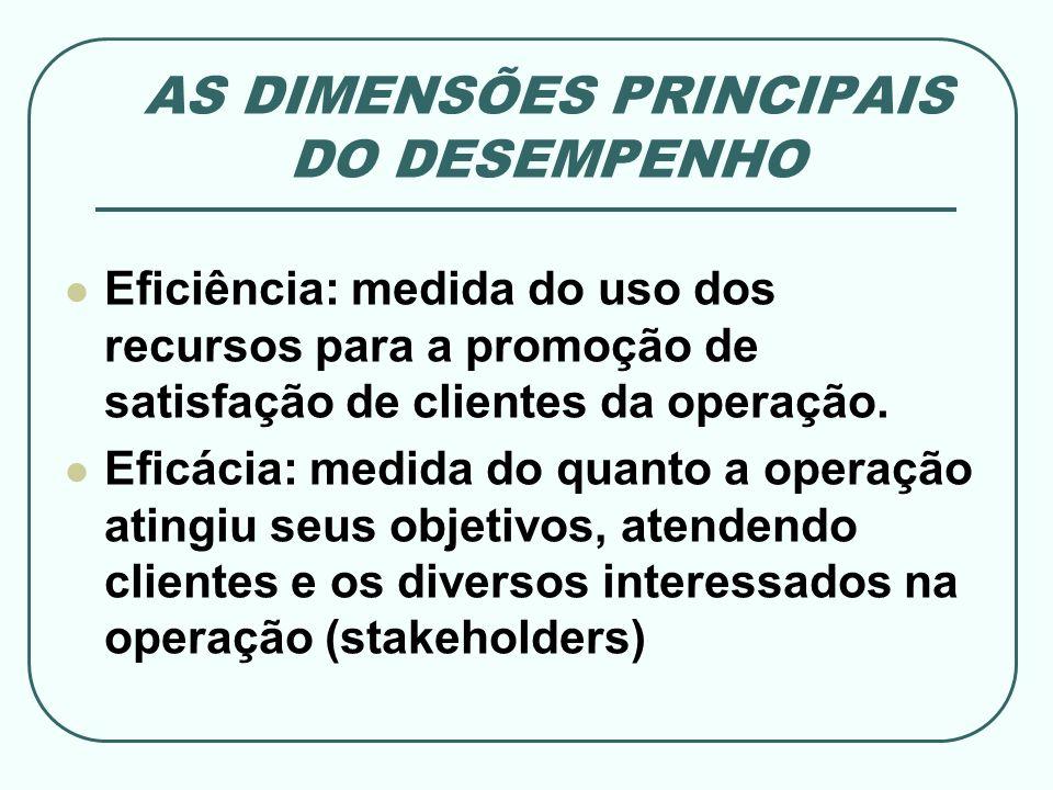 AS DIMENSÕES PRINCIPAIS DO DESEMPENHO