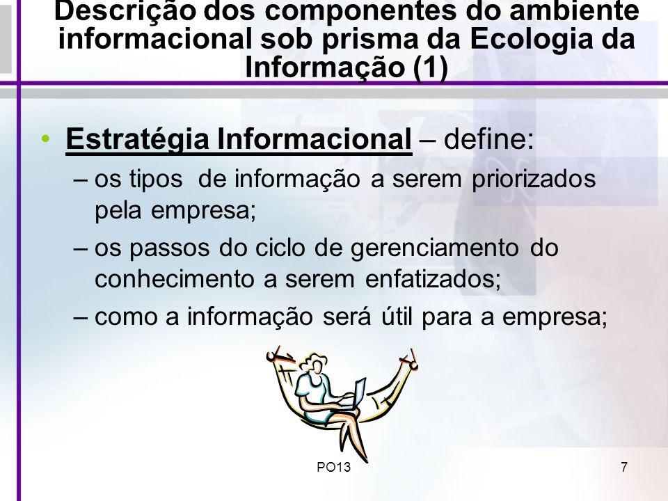Estratégia Informacional – define: