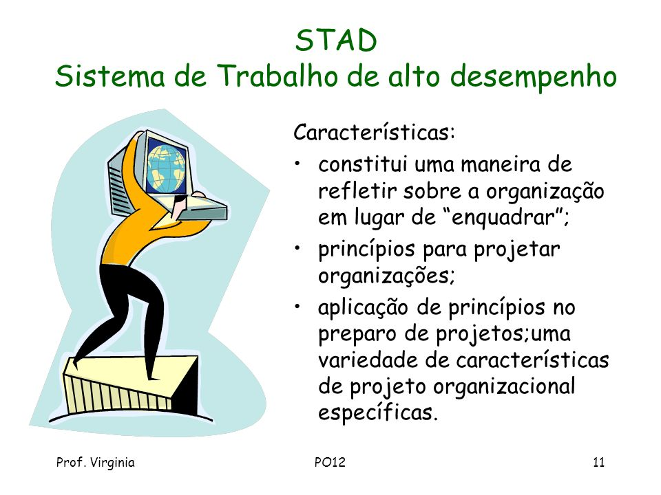 STAD Sistema de Trabalho de alto desempenho