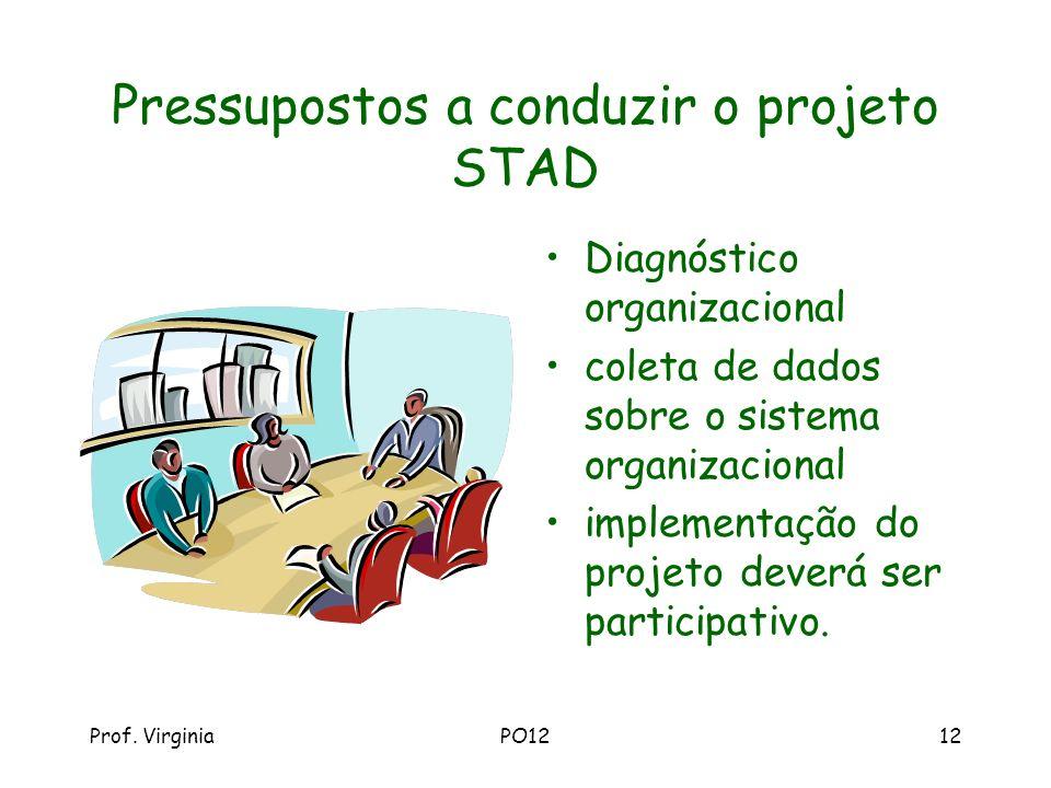 Pressupostos a conduzir o projeto STAD