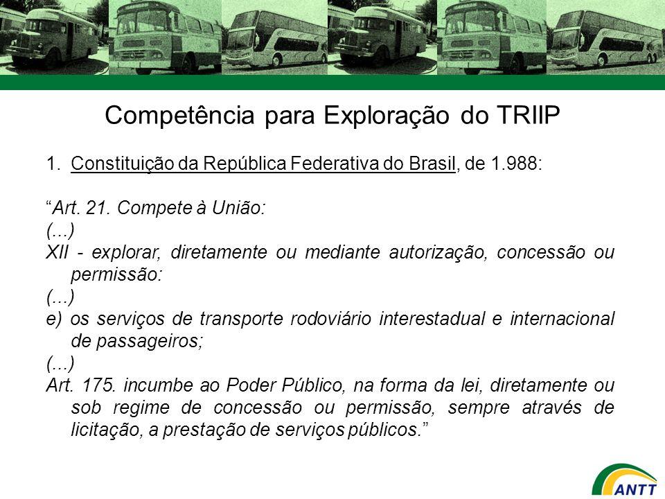Competência para Exploração do TRIIP