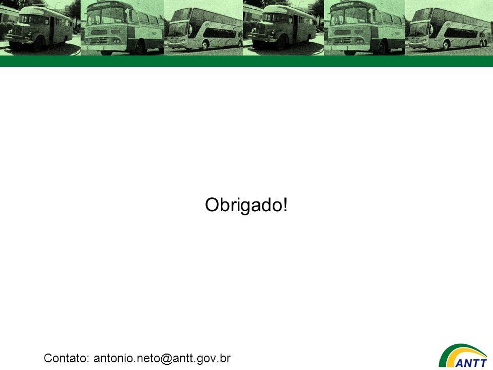Obrigado! Contato: antonio.neto@antt.gov.br