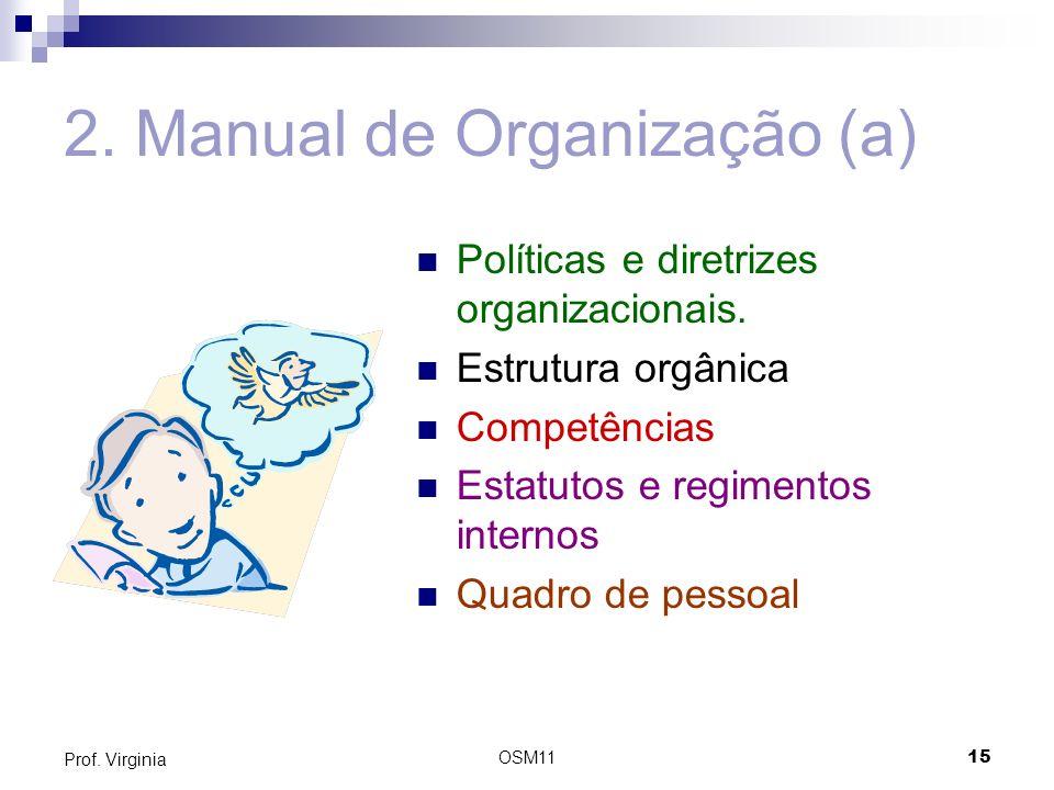 2. Manual de Organização (a)