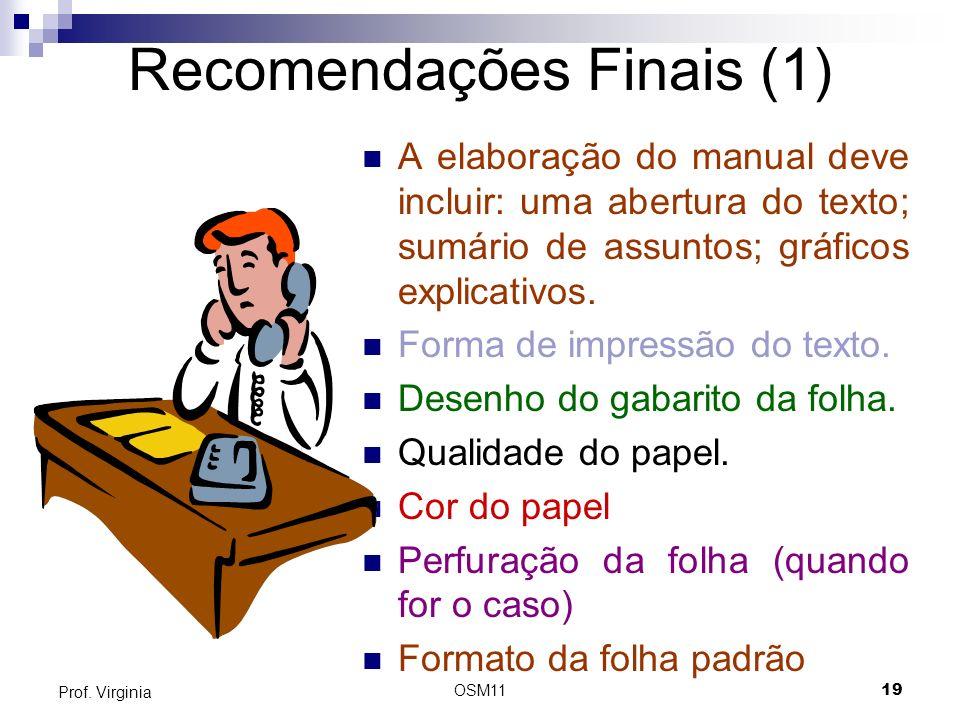 Recomendações Finais (1)