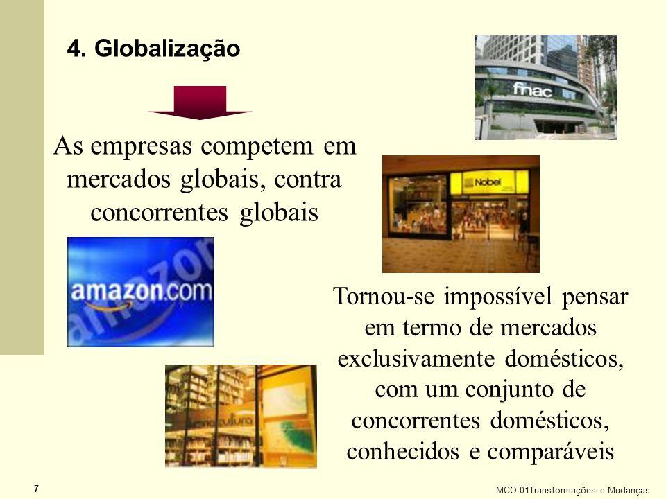 As empresas competem em mercados globais, contra concorrentes globais