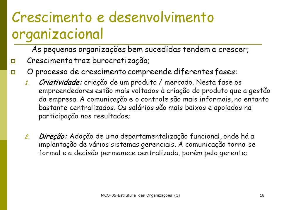 Crescimento e desenvolvimento organizacional