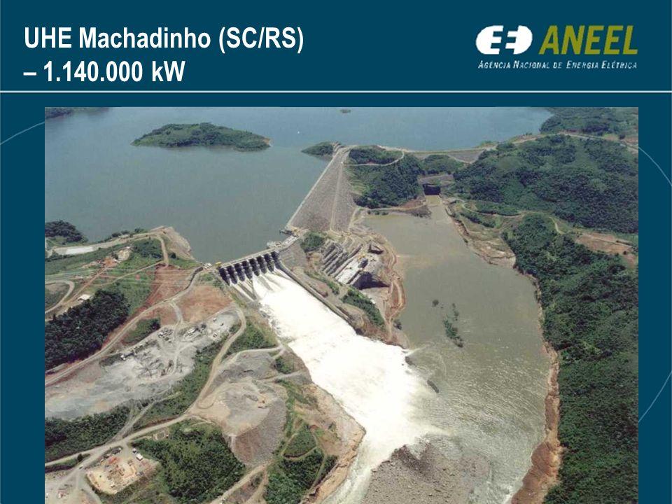 UHE Machadinho (SC/RS) – 1.140.000 kW