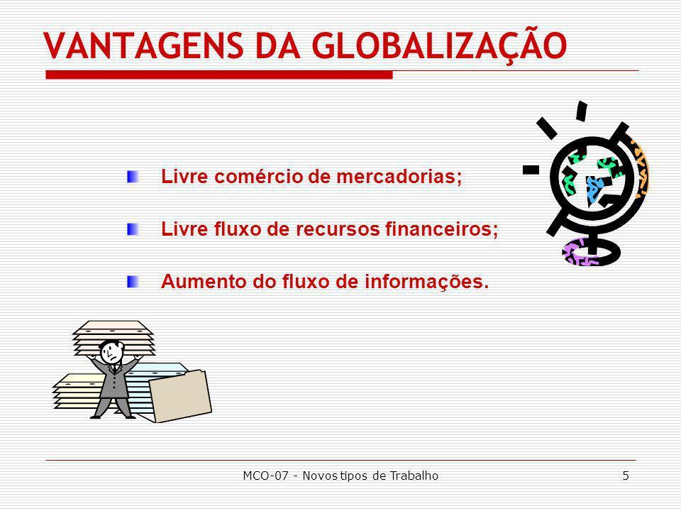 VANTAGENS DA GLOBALIZAÇÃO
