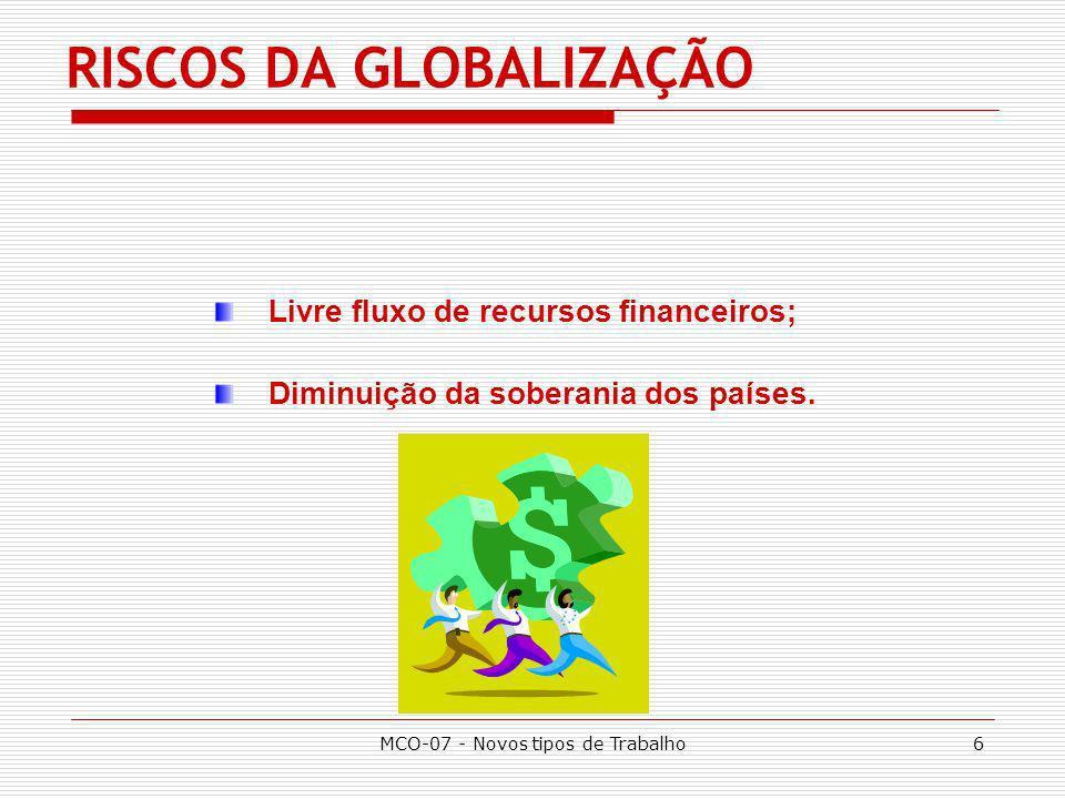 RISCOS DA GLOBALIZAÇÃO