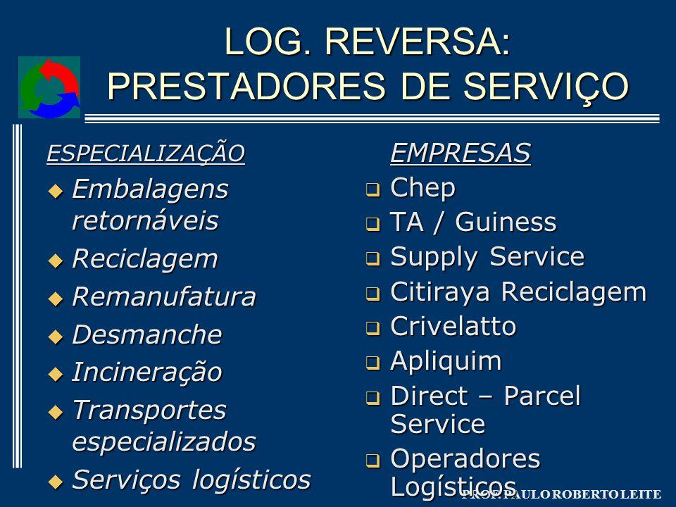 LOG. REVERSA: PRESTADORES DE SERVIÇO