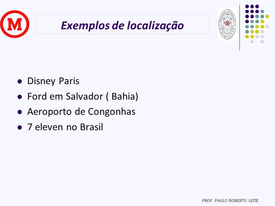 Exemplos de localização
