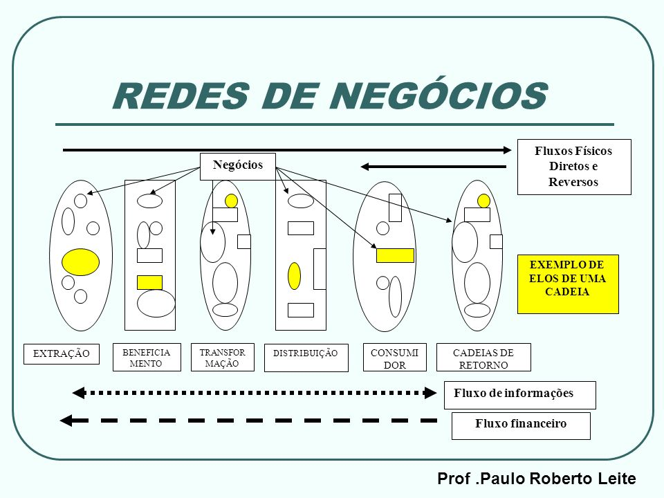 REDES DE NEGÓCIOS Prof .Paulo Roberto Leite