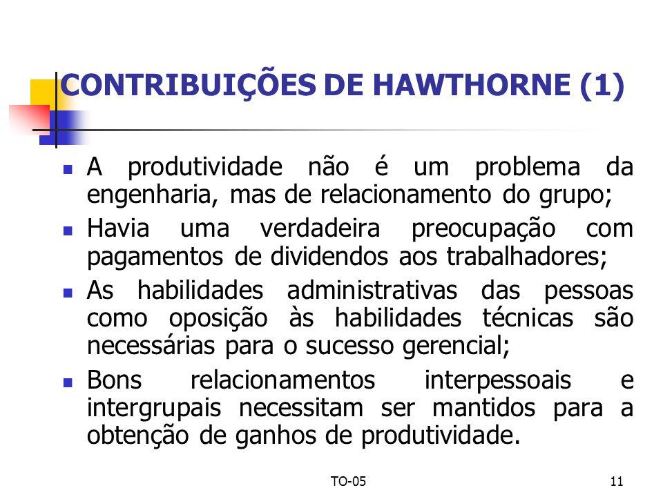 CONTRIBUIÇÕES DE HAWTHORNE (1)