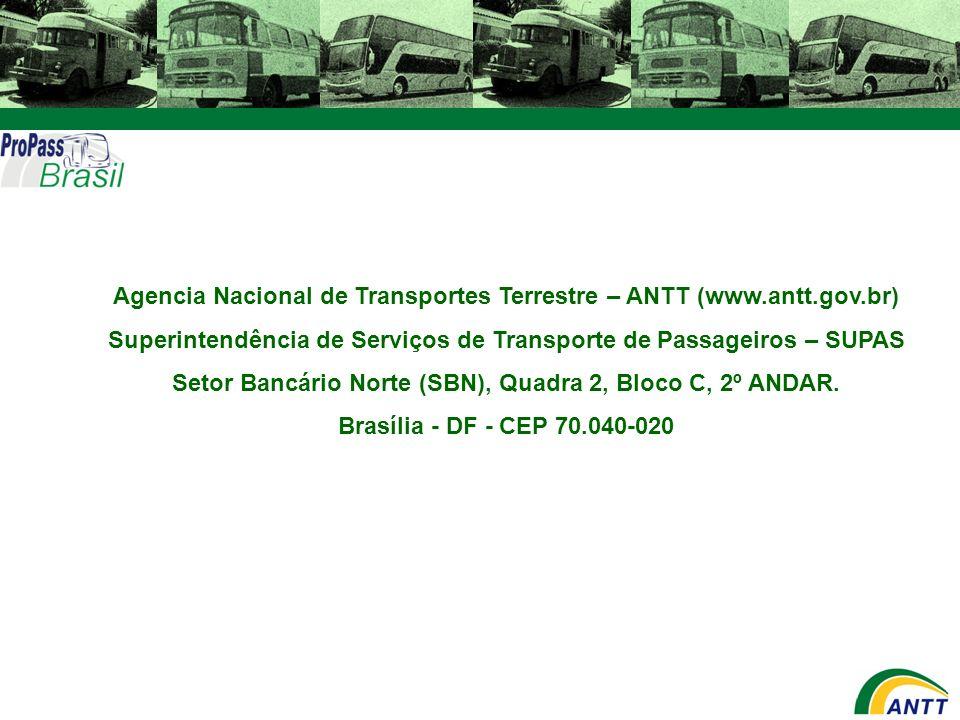 Agencia Nacional de Transportes Terrestre – ANTT (www.antt.gov.br)