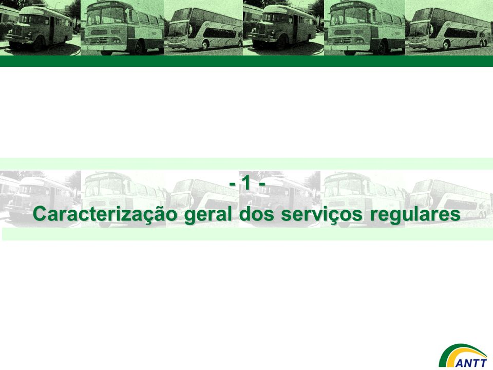 Caracterização geral dos serviços regulares
