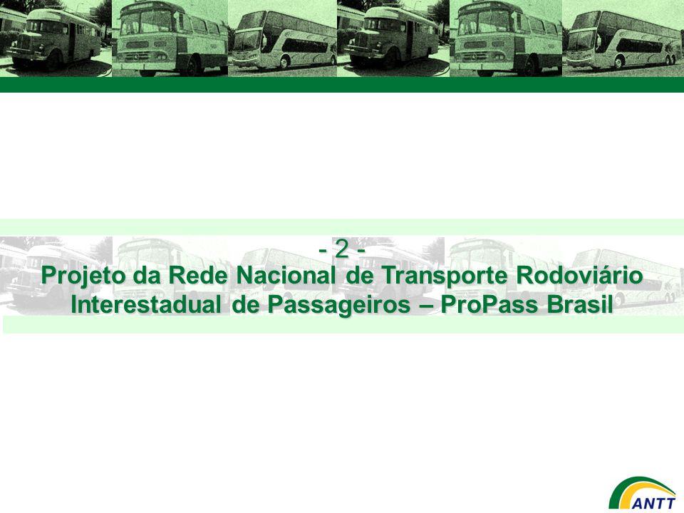 Projeto da Rede Nacional de Transporte Rodoviário Interestadual de Passageiros – ProPass Brasil