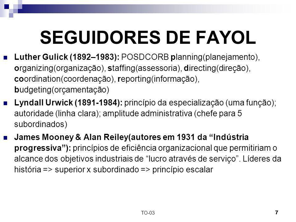 SEGUIDORES DE FAYOL