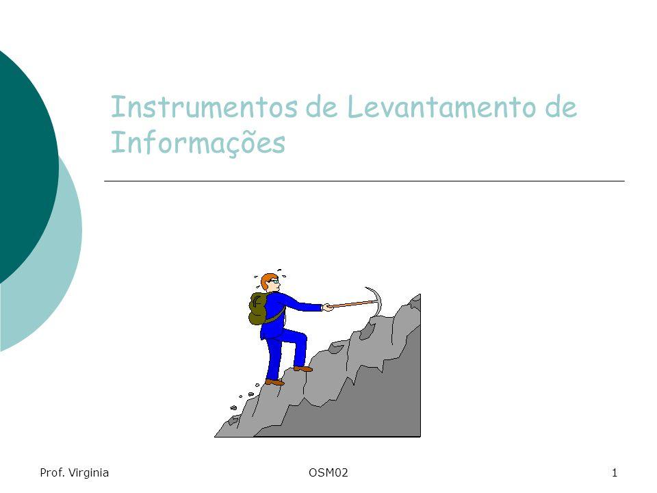 Instrumentos de Levantamento de Informações