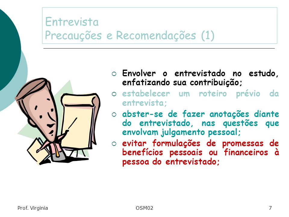 Entrevista Precauções e Recomendações (1)
