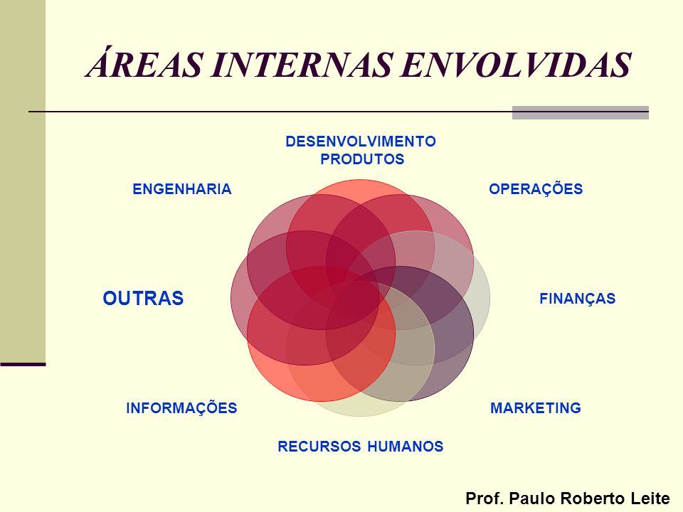 ÁREAS INTERNAS ENVOLVIDAS