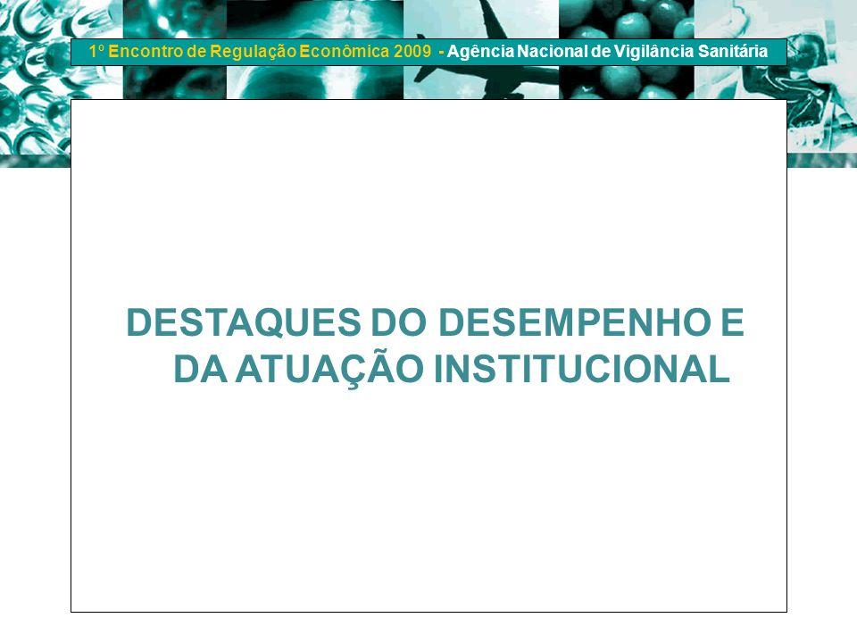DESTAQUES DO DESEMPENHO E DA ATUAÇÃO INSTITUCIONAL