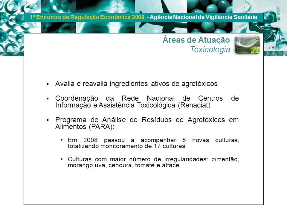 Áreas de Atuação Toxicologia