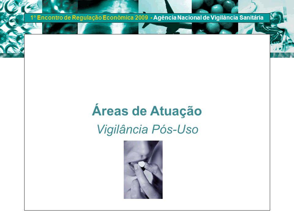 Áreas de Atuação Vigilância Pós-Uso