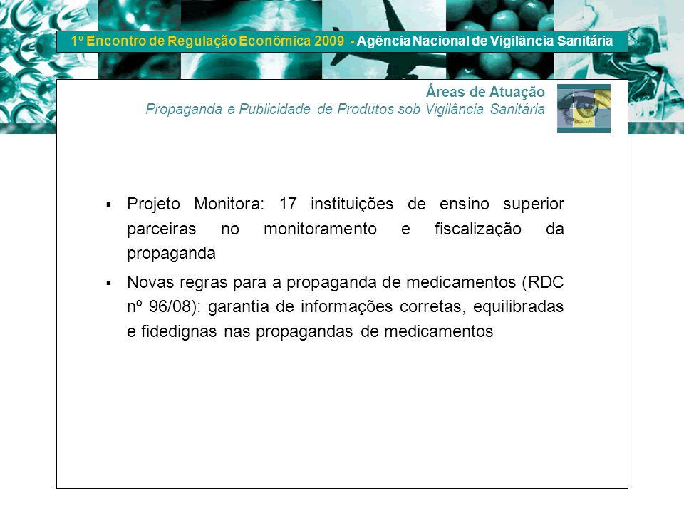 Áreas de Atuação Propaganda e Publicidade de Produtos sob Vigilância Sanitária.