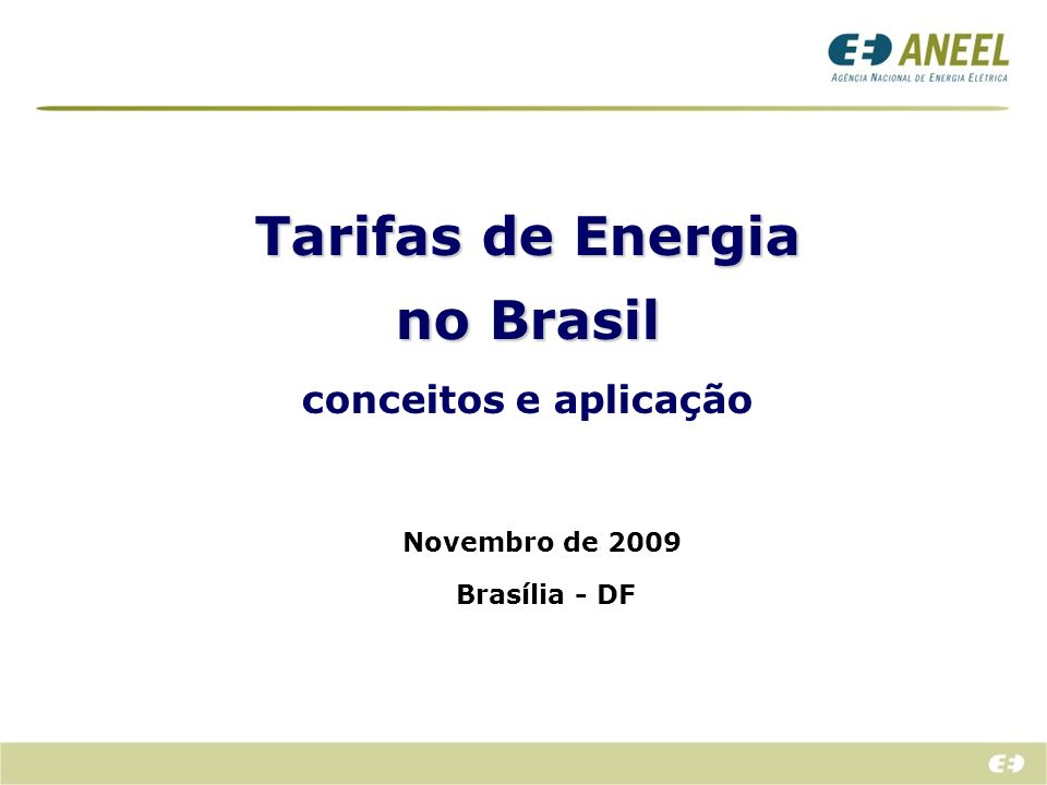 Tarifas de Energia no Brasil